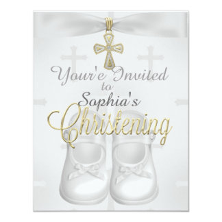 Convites religiosos do batismo do chique