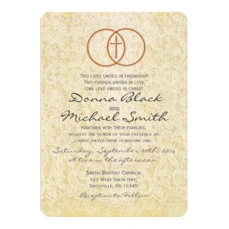 Convites religiosos do casamento do laço do