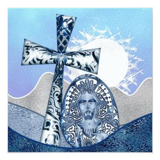 Convites religiosos do grupo da páscoa