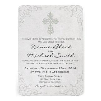 Convites religiosos transversais delicados do casa