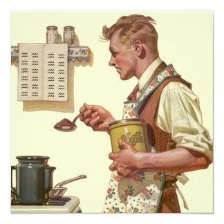Convites retros da aposentadoria do café do fazer