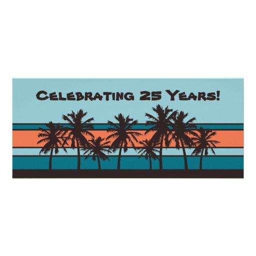 Convites retros da festa de aniversário da praia