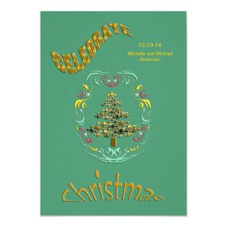 Convites retros da festa de Natal da flor de lis