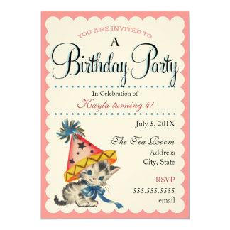Convites retros do aniversário da festa de