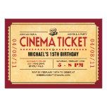 Convites retros do bilhete do filme