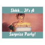 Convites retros do bolo de aniversário do galão do