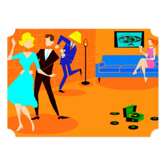 Convites retros do cocktail dos desenhos animados