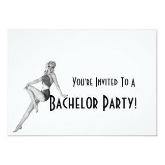 Convites retros do despedida de solteiro