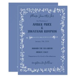 Convites românticos do casamento da beira branca
