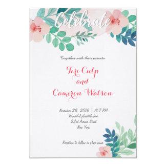 convites românticos florais do casamento