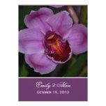 Convites roxos 5x7 do casamento da orquídea