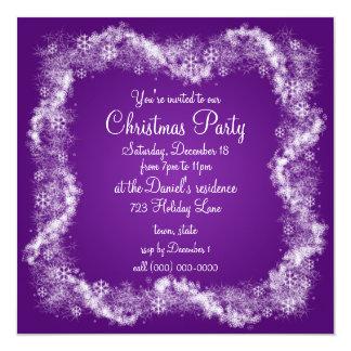 Convites roxos da festa de Natal