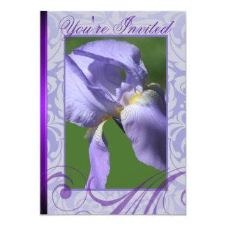 Convites roxos da íris da páscoa floral da