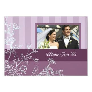 Convites roxos da renovação do voto de casamento convite 12.7 x 17.78cm