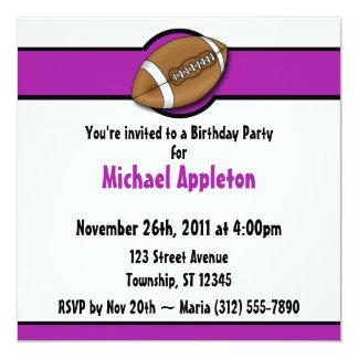 Convites roxos do aniversário do futebol