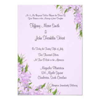 Convites roxos do casamento das glicínias