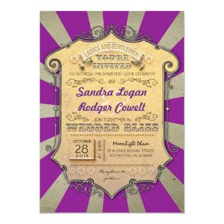 convites roxos do casamento do carnaval