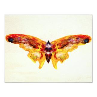 Convites roxos e amarelos do vintage da borboleta