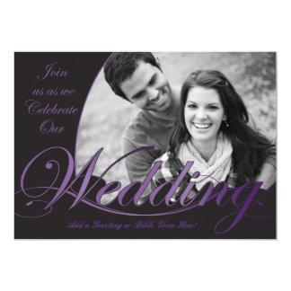 Convites roxos e pretos do casamento