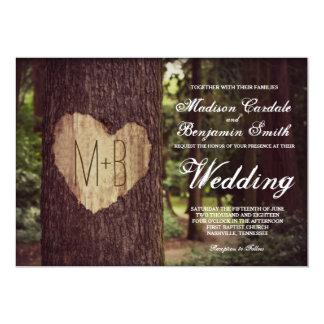 Convites rústicos cinzelados do casamento da