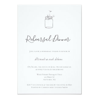 Convites rústicos cinzentos do jantar de ensaio do
