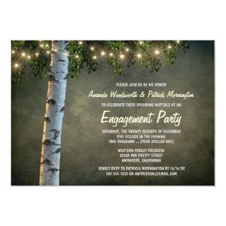 Convites rústicos da festa de noivado da árvore de
