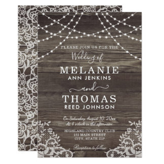 Convites rústicos da madeira e do casamento do