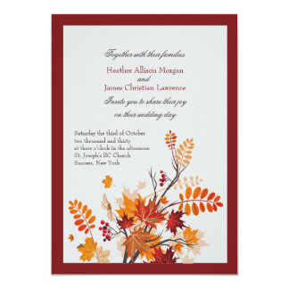 Convites rústicos do casamento da folha