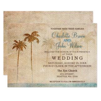 Convites rústicos do casamento de praia das