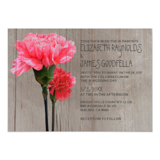 Convites rústicos do casamento do Mini-Cravo