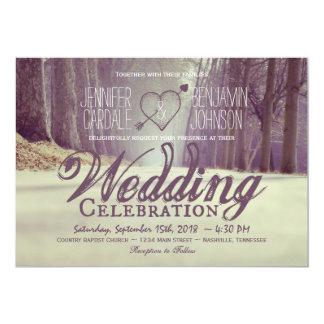 Convites rústicos do casamento outono das árvores