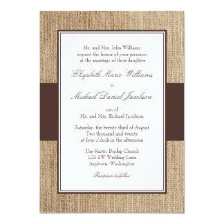 Convites rústicos formais do casamento de Brown de