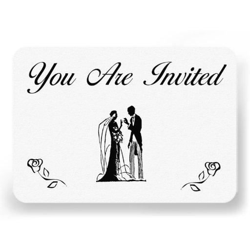 Convites simples do casamento