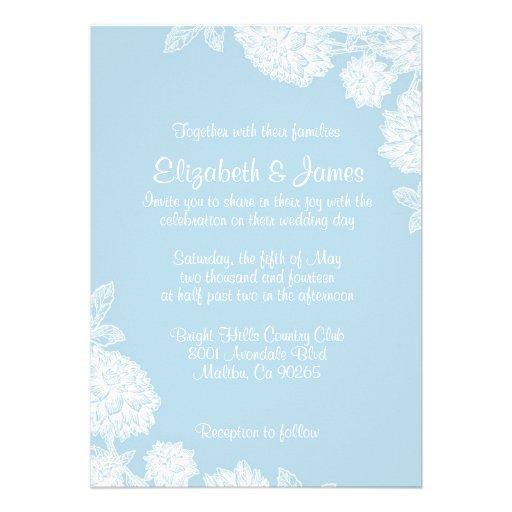 Convites simples do casamento da flor