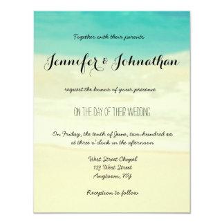 Convites simples do casamento de praia