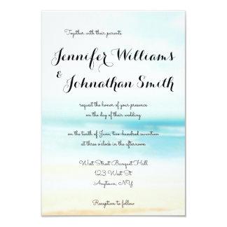 Convites simples do casamento do destino da praia