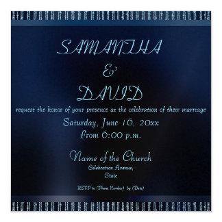 Convites Sparkling azuis modernos elegantes do