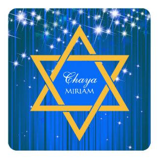 Convites Sparkling de Mitzvah do bastão da estrela