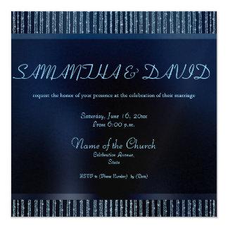Convites Sparkling do casamento do brilho do azul Convite Quadrado 13.35 X 13.35cm