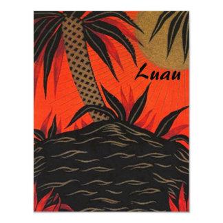 Convites temáticos tropicais da ilha de Luau Tiki