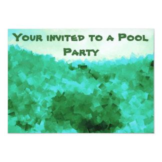 Convites tranquilos da festa na piscina das