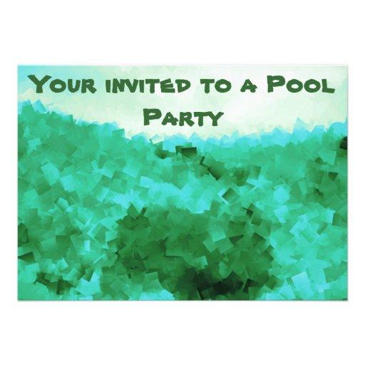 Convites tranquilos da festa na piscina das reflex