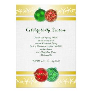Convites tropicais da festa natalícia do ouro