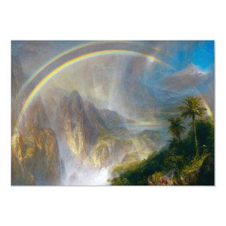 Convites tropicais da pintura do arco-íris