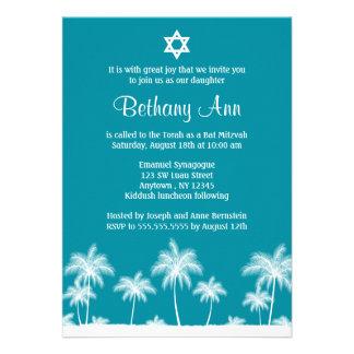 Convites tropicais de Mitzvah do bastão da cerceta