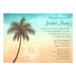 Convites tropicais de Mitzvah do bastão da palmeir