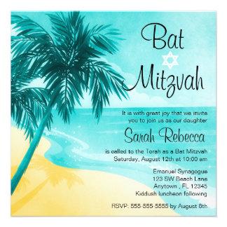 Convites tropicais de Mitzvah do bastão da praia