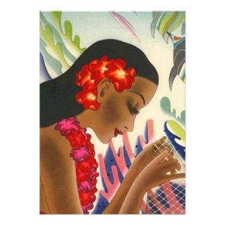Convites tropicais de Tiki do partido de Luau dos