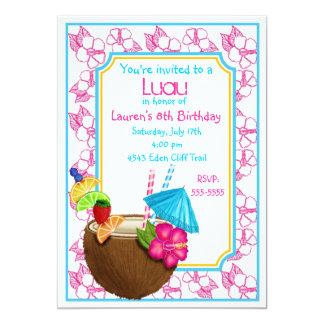 Convites tropicais do aniversário da bebida do