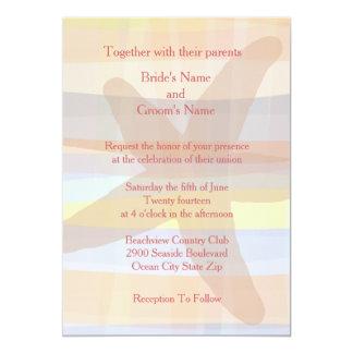 Convites tropicais do casamento da cor
